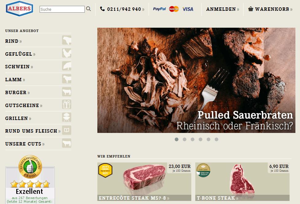 Seit zwei Jahren bestelle ich Online Gourmetfleisch bei Albers Food